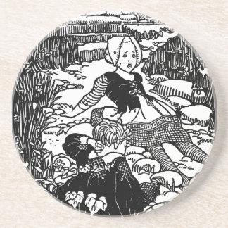 Jack and Jill Vintage Nursery Rhyme Coasters