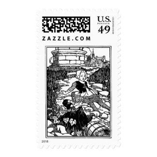 Jack and Jill Vintage Nursery Rhyme Stamp
