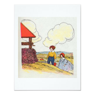 Jack and Jill went up the hill Card