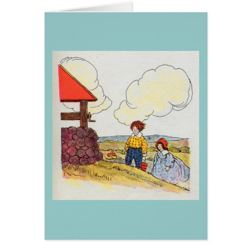 Jack and jill went up the hill card zazzle for Jack e jill house