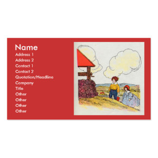 Jack and Jill went up the hill Double-Sided Standard Business Cards (Pack Of 100)