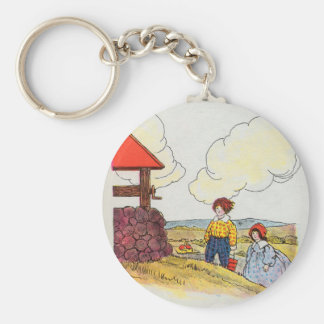 Jack and Jill went up the hill Keychains