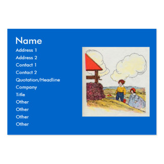 Jack and Jill went up the hill Large Business Cards (Pack Of 100)