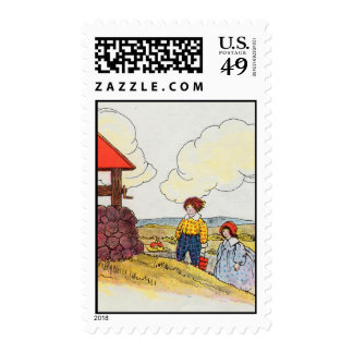 Jack and Jill went up the hill Postage Stamps