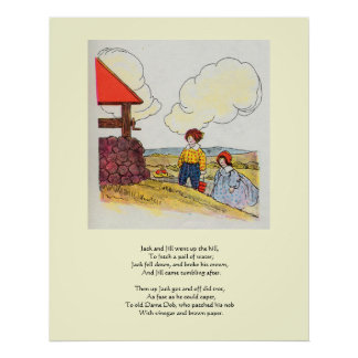 Jack and Jill went up the hill Poster