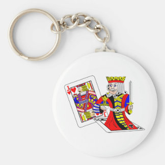 Jack and King Off Card Keychain