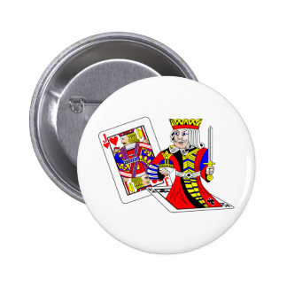 Jack and King Off Card Pinback Button