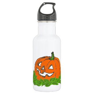 Jack and leaves 18oz water bottle