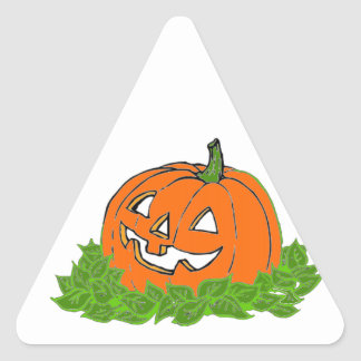 Jack and leaves triangle sticker
