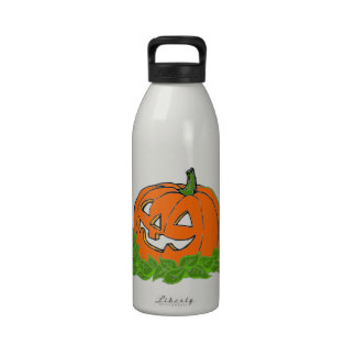 Jack and leaves water bottle