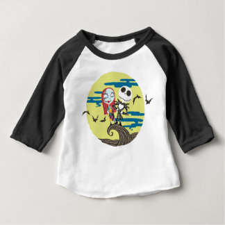 Jack and Sally | Cute Moon Baby T-Shirt