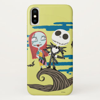 Jack and Sally | Cute Moon iPhone X Case