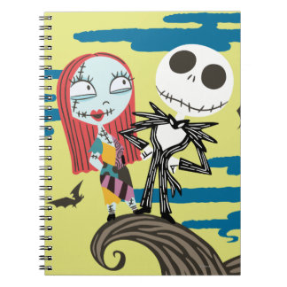 Jack and Sally | Cute Moon Notebook