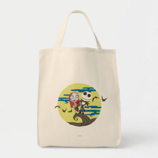 Jack and Sally | Cute Moon Tote Bag
