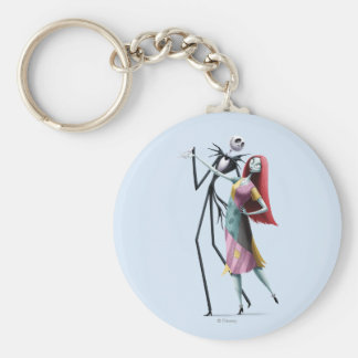 Jack and Sally Dancing Keychain