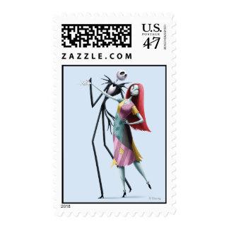 Jack and Sally Dancing Stamp