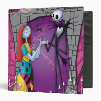 Jack and Sally Holding Hands 3 Ring Binder