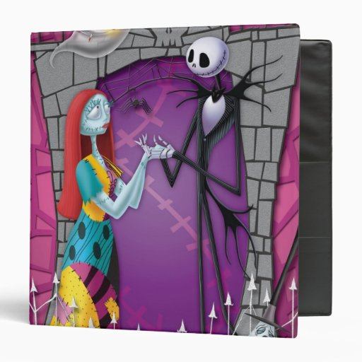 Jack and Sally Holding Hands Vinyl Binders