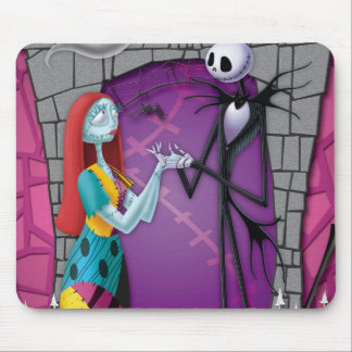 Jack and Sally Holding Hands Mouse Pad