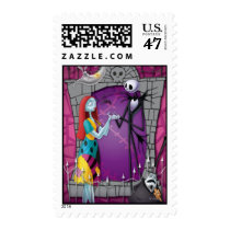 Jack and Sally Holding Hands Postage
