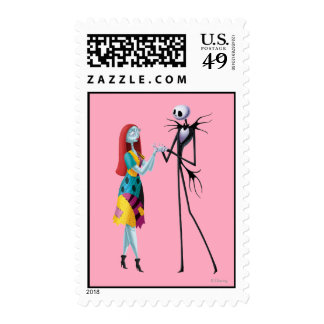 Jack and Sally Holding Hands Postage Stamps