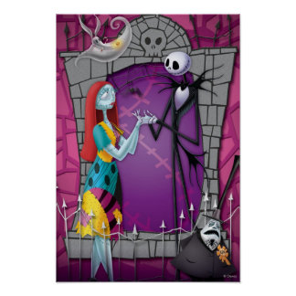 Jack and Sally Holding Hands Poster