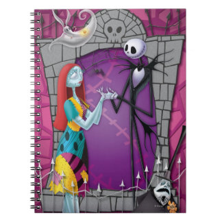 Jack and Sally Holding Hands Spiral Notebooks