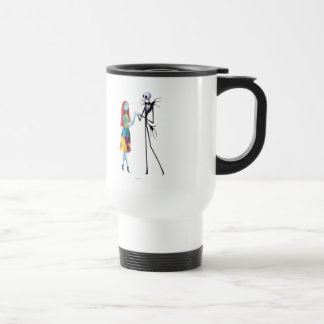 Jack and Sally Holding Hands Travel Mug