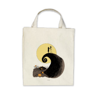 Jack and Sally Holding Hands Under the Moon Canvas Bag