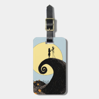 Jack and Sally Holding Hands Under the Moon Bag Tag