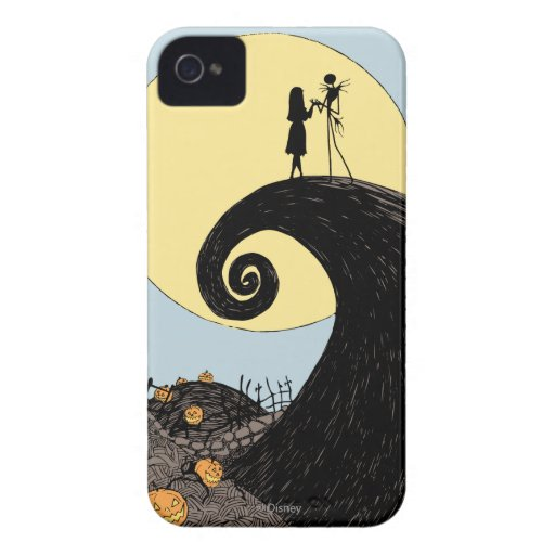Jack and Sally Holding Hands Under the Moon iPhone 4 Cases