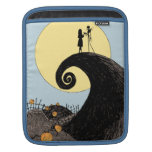 Jack and Sally Holding Hands Under the Moon iPad Sleeves