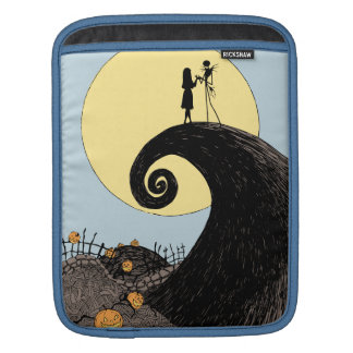 Jack and Sally Holding Hands Under the Moon iPad Sleeve