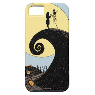 Jack and Sally Holding Hands Under the Moon iPhone SE/5/5s Case