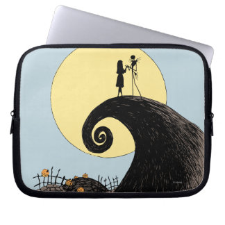 Jack and Sally Holding Hands Under the Moon Laptop Sleeve