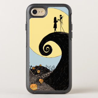 Jack and Sally Holding Hands Under the Moon OtterBox Symmetry iPhone 7 Case