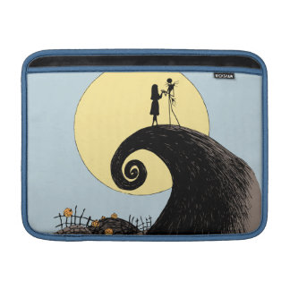 Jack and Sally Holding Hands Under the Moon Sleeve For MacBook Air