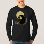 Jack and Sally Holding Hands Under the Moon T Shirt