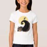 Jack and Sally Holding Hands Under the Moon T-Shirt