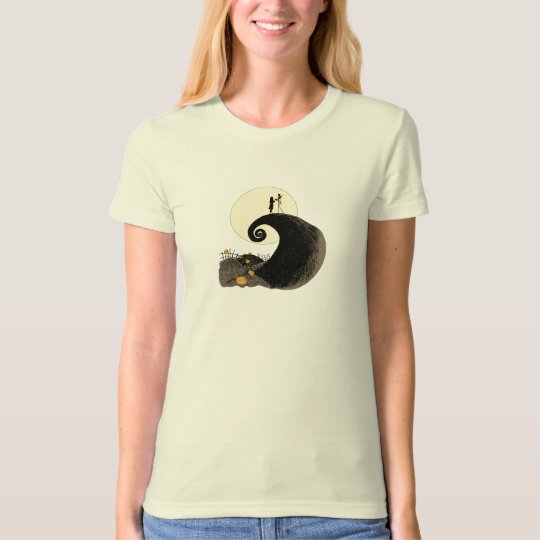 Jack and Sally holding hands under the moonlight T-Shirt