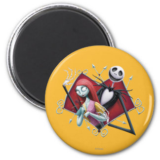 Jack and Sally in Heart Magnet