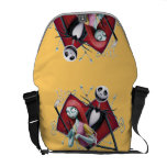Jack and Sally in Heart Messenger Bag