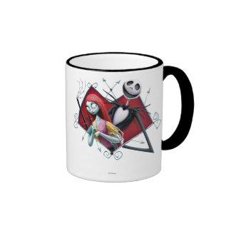 Jack and Sally in Heart Ringer Coffee Mug