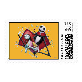 Jack and Sally in Heart Stamp