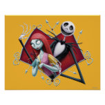 Jack and Sally in Heart Posters