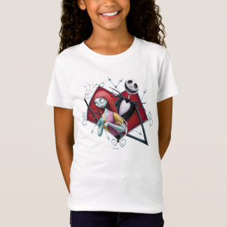 Jack and Sally in Heart T-Shirt