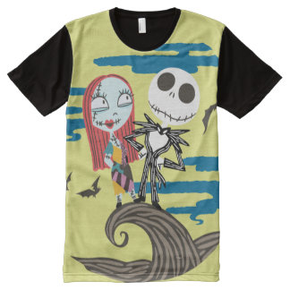 Jack and Sally Moon All-Over Print T-shirt