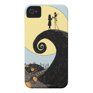 Jack and Sally | Moon Silhouette iPhone 4 Case-Mate Case
