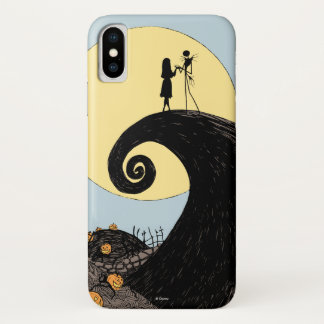 Jack and Sally | Moon Silhouette iPhone X Case