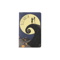Jack and Sally | Moon Silhouette - Name Pocket Moleskine Notebook